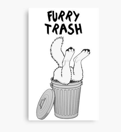 Furry Trash - White/Arctic Wolf Canvas Print