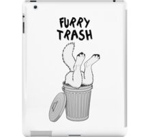 Furry Trash - White/Arctic Wolf iPad Case/Skin