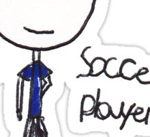 Soccer Player Sticker