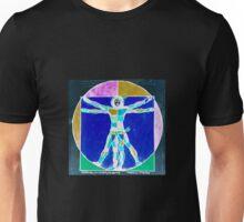 Vitruvian Man Colour Rev Unisex T-Shirt