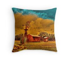 Cabin on a Windy Hill Throw Pillow