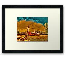 Cabin on a Windy Hill Framed Print