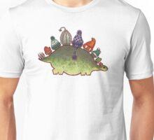 Green Stegosaurus Derposaur with Hats Unisex T-Shirt