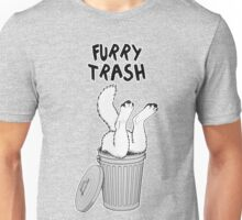 Furry Trash - White/Arctic Wolf Unisex T-Shirt