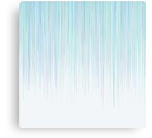 Blue Line Pattern on White Background Canvas Print