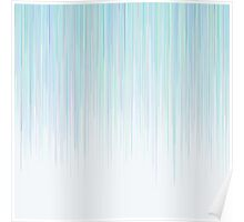 Blue Line Pattern on White Background Poster