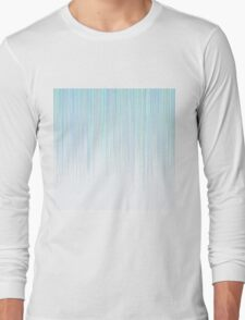 Blue Line Pattern on White Background Long Sleeve T-Shirt