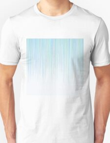 Blue Line Pattern on White Background T-Shirt