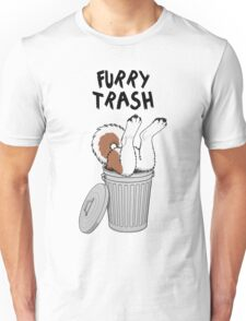 Furry Trash - Red Husky/Malamute Unisex T-Shirt
