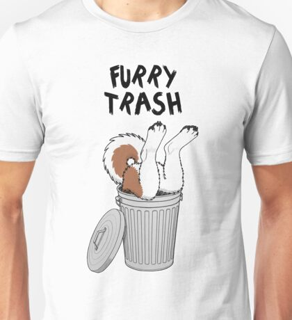 Furry Trash - Red Husky/Malamute Unisex T-Shirt