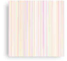 Pastel Line Pattern in Rainbow Colors on White Background Canvas Print