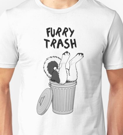 Furry Trash - Black Husky/Malamute Unisex T-Shirt