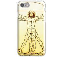 Vitruvian Man Mono iPhone Case/Skin