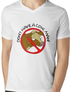 Don't Have A Cow, Man! - The Simpsons Mens V-Neck T-Shirt