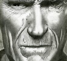 Pencil Portrait - Clint Eastwood by vandenhoornart