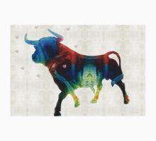 Bull Art Print - Love A Bull 2 - By Sharon Cummings Kids Tee