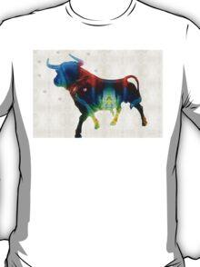 Bull Art Print - Love A Bull 2 - By Sharon Cummings T-Shirt