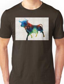 Bull Art Print - Love A Bull 2 - By Sharon Cummings Unisex T-Shirt