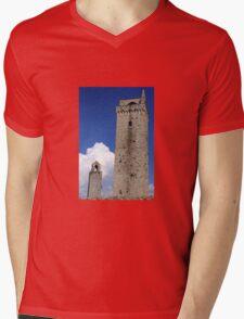 Towering Tuscany Mens V-Neck T-Shirt