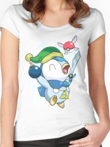 Pokemon Link Piplup Women's Fitted Scoop T-Shirt