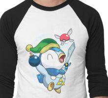 Pokemon Link Piplup Men's Baseball ¾ T-Shirt