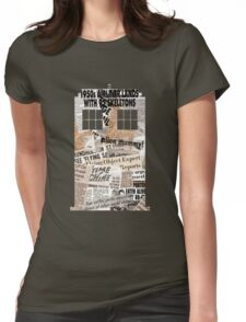 Doctor Who - TARDIS newspaper articles Womens Fitted T-Shirt
