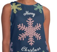 Merry Christmas & Candy Snowflakes Contrast Tank
