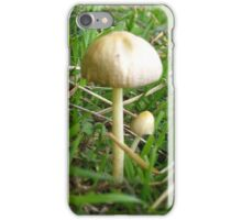 Mushrooms in grass iPhone Case/Skin