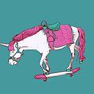 Unicorn on a Skateboard by Thomas Orrow