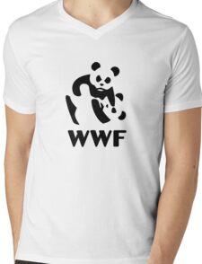 wwf cartoon panda Mens V-Neck T-Shirt