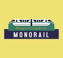 Monorail Magic Kingdom Sign Kids Tee