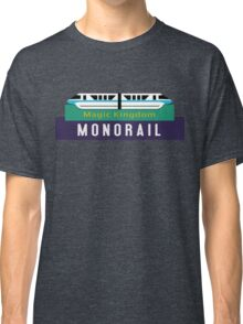 Monorail Magic Kingdom Sign Classic T-Shirt