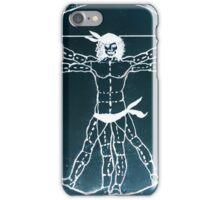 Vitruvian Man Mono Rev (WITH scarves) iPhone Case/Skin