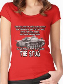 Stug WW2 tank destroyer T shirt Women's Fitted Scoop T-Shirt