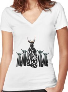 The Knights Who Say/Spell Ni Women's Fitted V-Neck T-Shirt