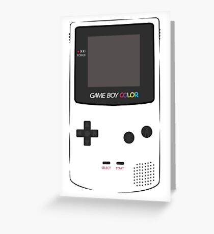 Game Boy Color Greeting Card