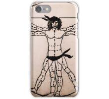 Vitruvian Man Mono (WITH scarves) iPhone Case/Skin