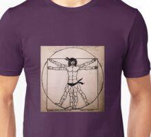 Vitruvian Man Mono (WITH scarves) Unisex T-Shirt