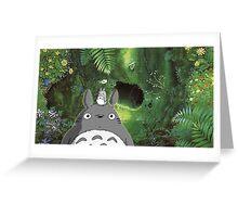 Totoro at Home Greeting Card
