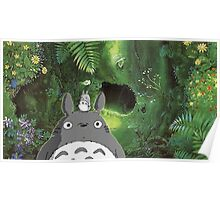 Totoro at Home Poster