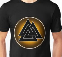 Norse Valknut - Yellow and Black Unisex T-Shirt
