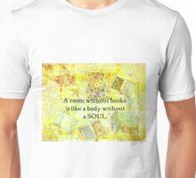 Book Reading Books quote Cicero Unisex T-Shirt