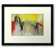 Golden Rain Framed Print
