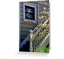 Upstairs Reflected, Downstairs Greeting Card