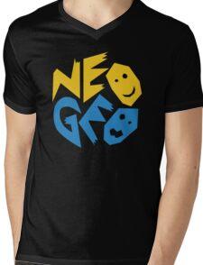 Neo Geo Logo Mens V-Neck T-Shirt