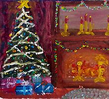 Christmas Tree & Fireplace Holidays by Dan  Branson