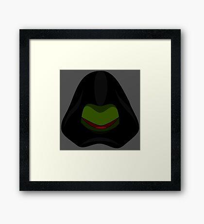 Evil Kermit Framed Print