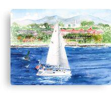 Wind Graham off Dana Point Ca. Canvas Print
