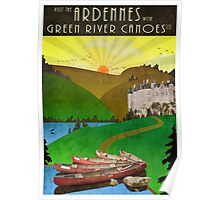 Canoeing in the Ardennes Poster