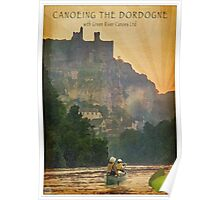 Canoeing on the Dordogne Poster